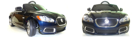 its no wonder this dark blue metallic official jaguar xfr kids ride on car will be an instant sell out as this car is exactly the same design as the real