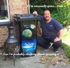 Viral Success For Beccles' Wheelie-Bin Artist